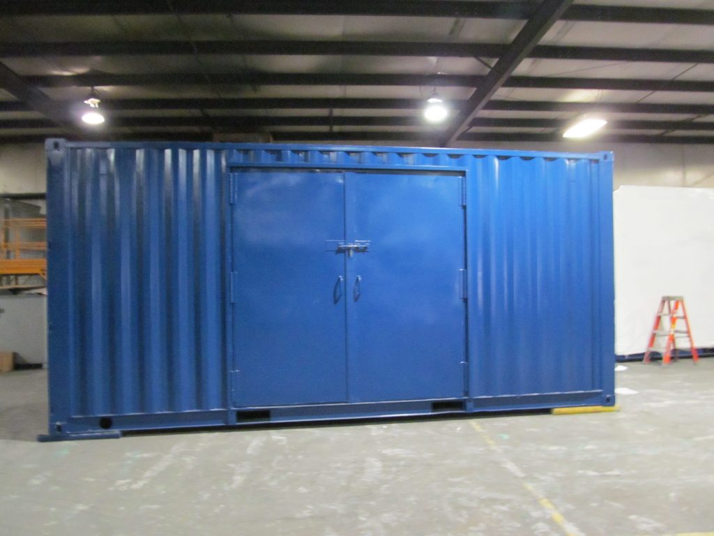 Shielded Test Building Lined with HDPE and HDPE Borated at Container Technologies Industries